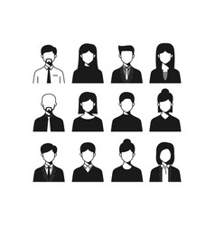 male female business people icon vector image