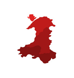 map of wales with regions vector image