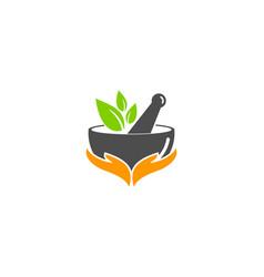 Medicine care logo icon design vector