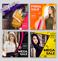 modern sale banners collection vector image