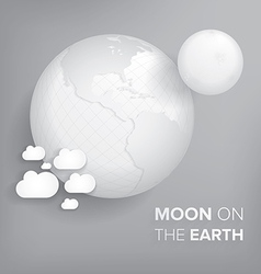 Moon on the earth vector
