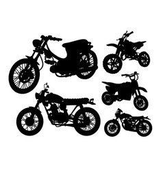 motorbike transportation silhouette vector image