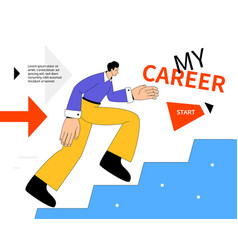 My career - modern colorful flat design style web vector