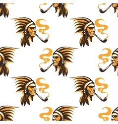 Native american indian seamless pattern vector