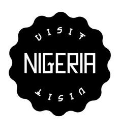 Nigeria black stamp on white vector