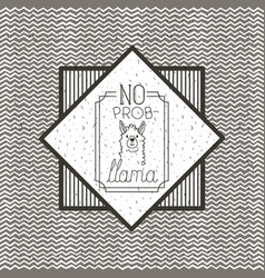 No problem message with hand made font vector