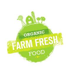 Organic farm fresh healthy food eco green vector