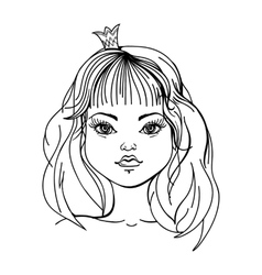 princess on a white background vector image