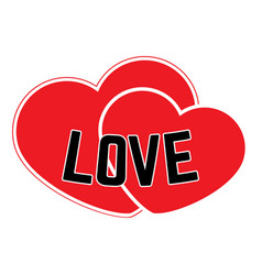 red hearts on a white background vector image