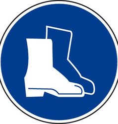 Safety Boots Must Be Worn Sign vector image vector image