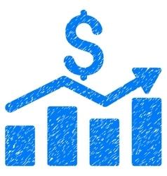 Sales Chart Grainy Texture Icon vector