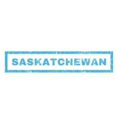 Saskatchewan Rubber Stamp vector image