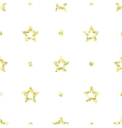 Seamless pattern with tinsels stars and polka dot vector