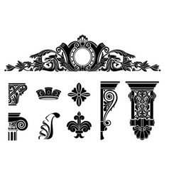 set of classic graphic templates vector image