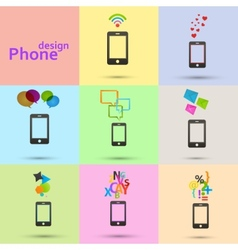 Set of phones icons vector image