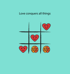 simple game - x-o gametic-tac-toe elementslove vector image