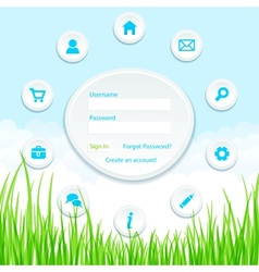 Site template vector image vector image