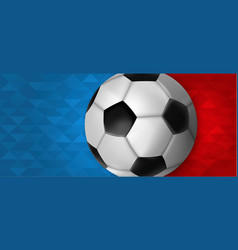 Soccer web banner of special sport event vector