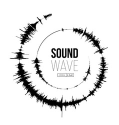sound wave spiral form on vector image
