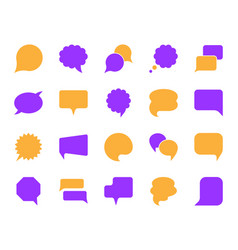 speech bubble simple color flat icons set vector image