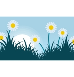 Spring with flower landscape vector