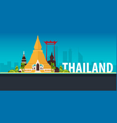 thailand time to travel banner vector image