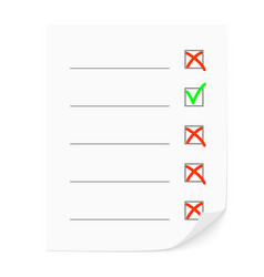 The check list vector