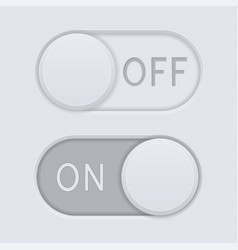 toggle switch buttons on and off vector image