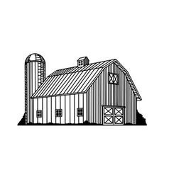 Traditional barn icon vector