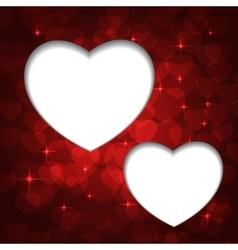 Valentine bokeh frame vector