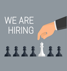 We are hiring employees concept human hand vector