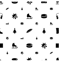 winter icons pattern seamless white background vector image