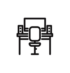 workplace icon vector image