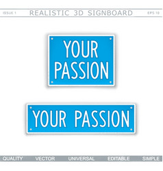 your passion stylized car license plate vector image