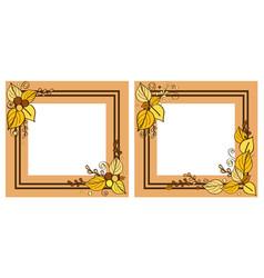 autumn frames set leaves on vector image