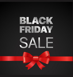 black friday concept black friday sale tag with vector image