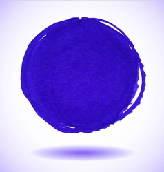 Blue marker circle stain vector image vector image