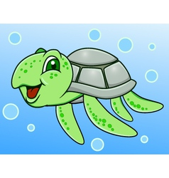 funny turtle vector image
