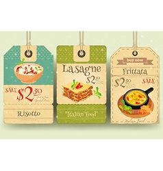 Italian Food - Set of Tags vector image