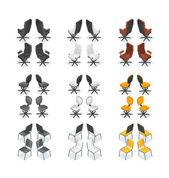 office chair icon set vector image