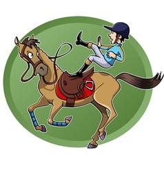 Rider falling vector image vector image