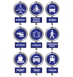 transport collection vector image