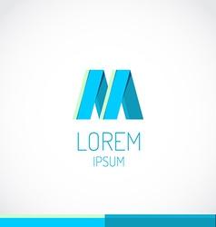 Trendy flat colors m letter logo template vector