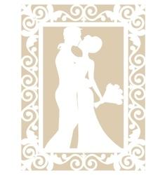 wedding laser cut vector image vector image