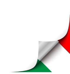 Curled Paper Corner with Mexico Flag Background vector image vector image