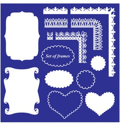 Frame Set - different frames and borders vector image