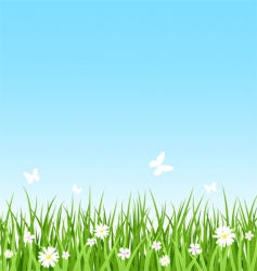 seamless grassy field vector image vector image