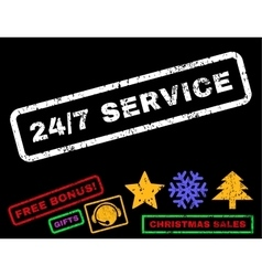 24-7 Service Rubber Stamp vector image vector image