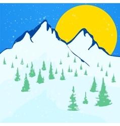 Beautiful winter landscape background vector image vector image
