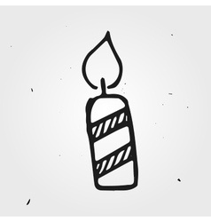 candle isolated hand drawn vector image